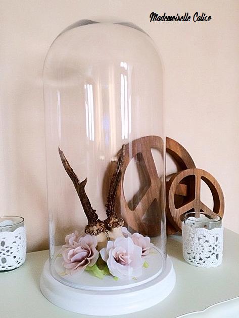 Cloche maison du monde bougie en verre parfum vanille blanche h cm classique with cloche maison - Verre mojito maison du monde ...