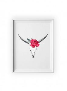 affiche-bull-flowers
