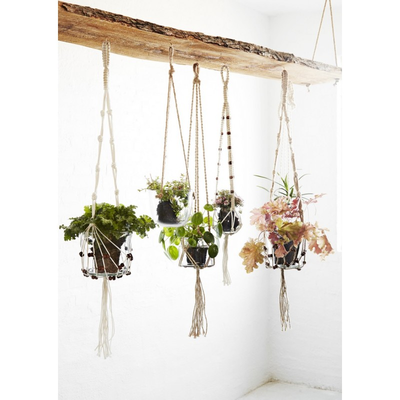 suspension en macrame plantes